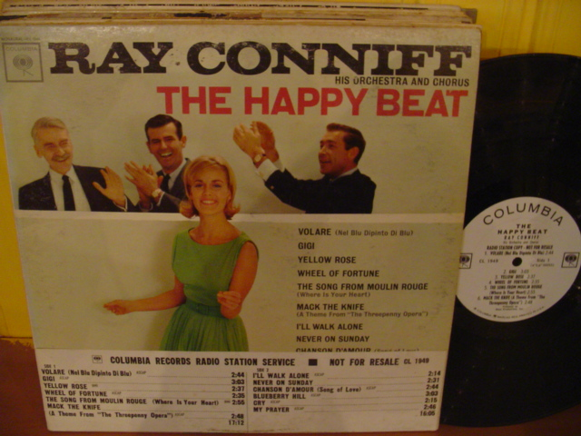 Ray Conniff - The Happy Beat - Columbia Mono Promo { Myers }